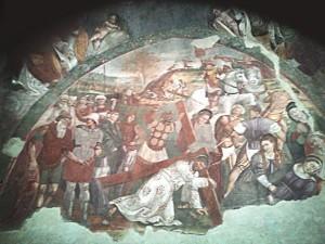 Santuario della Madonna di Appari, Paganica (Aq) XII° sec: Gesù cade con la Croce