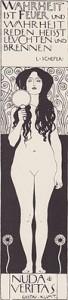 G. Klimt, Nuda Veritas (I°, lito, 1898)