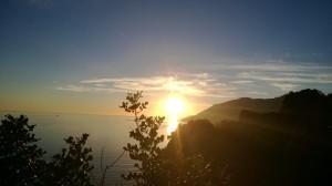 tramonto sulla costiera amalfitana