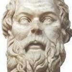 scultura romana su copia greca di dubbia immagine di socrate