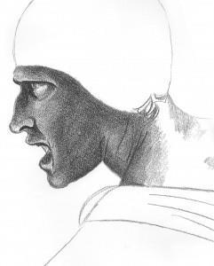 daddy 1967: bozzetto uomo battaglia di Anghiari (2), Leonardo 1503